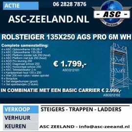 ASC Rolsteiger 135x250 AGS Pro 6m werkhoogte